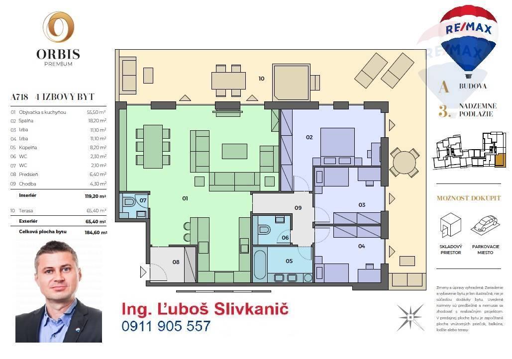predaj 4 izbový byt Nitra, Štefánikova trieda