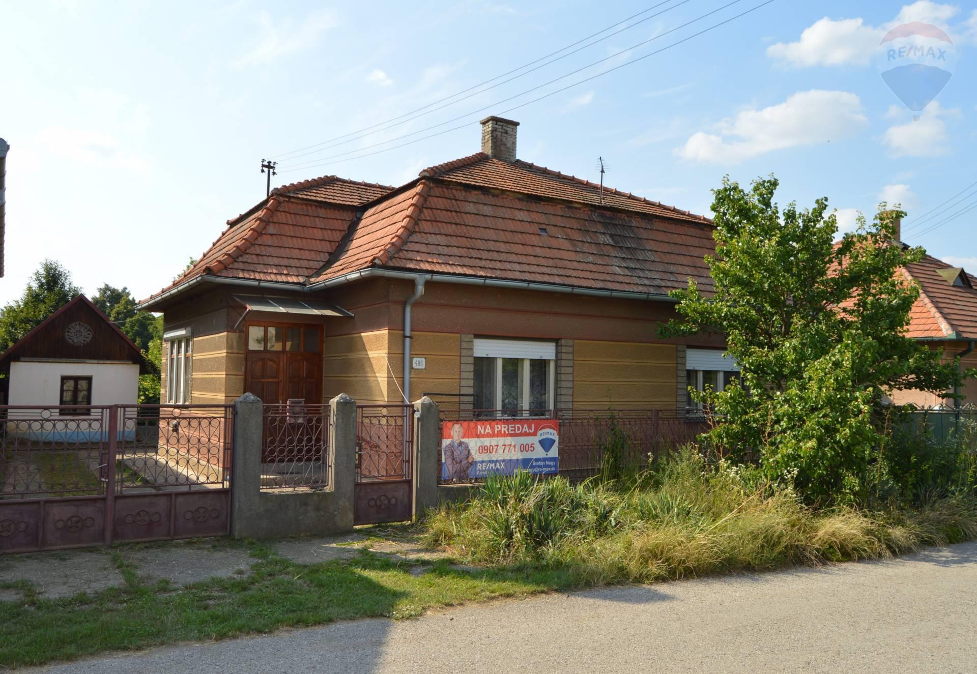 REZERVOVANÉ - Predaj rodinný dom Kamenín, okr. Nové Zámky